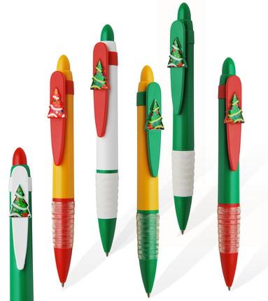 ручка с клипом Ёлка